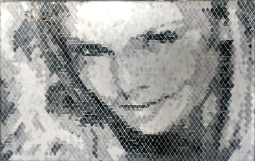 Mosaico bagno bianco e nero [tibonia.net]