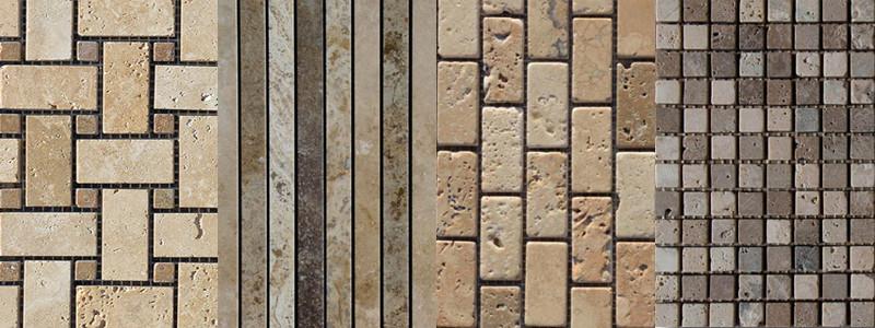 Mosaici in travertino forme e dimensioni