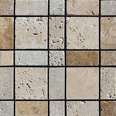 Mosaico Burberry con tessere rettangolari e quadrate