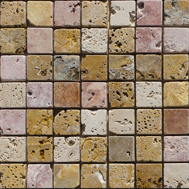 Mosaico in travertino tessere 3x3
