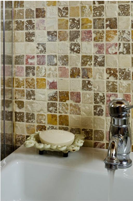 Scegliere il mosaico le finiture mosaici bagno by pietre di rapolano - Piastrelle cucina pietra ...