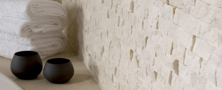 travertino spacco mosaico in pietra rustico
