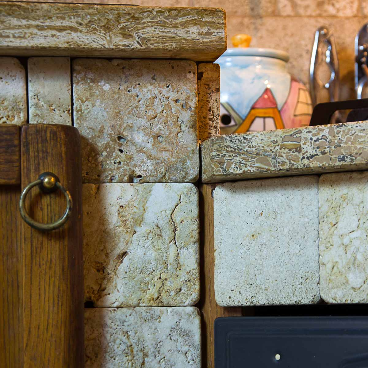 Mosaico per decorare la cucina mosaici bagno by pietre - Rivestimento cucina in muratura ...