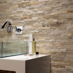 travertino a spacco muro bagno mosaico split face travertine