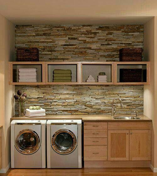 lavanderia ambiente di servizio mosaico in pietra